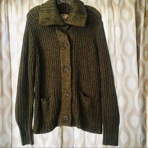 Women's Green Missimo cardigan Sweater Size XL
